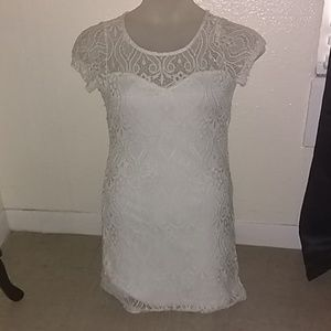 Love J White lace size M dress